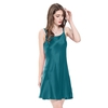 Dark Teal Women Silk Nightgown