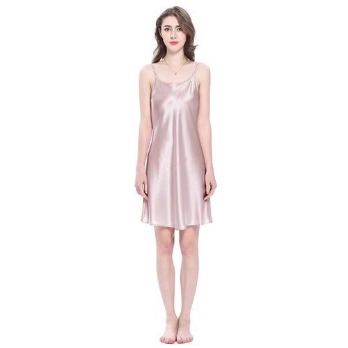 22 Momme Mini Scoop Neck Silk Nightgown
