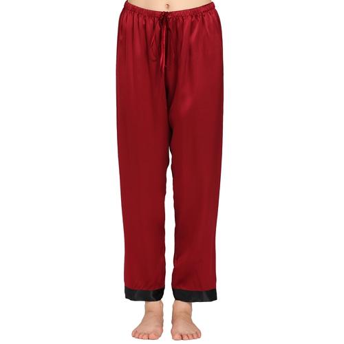 Burdeos Pantalón De Pijama Seda
