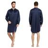 Navy Blue Men Silk Robe