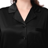 Black Plus Size Silk Pajama