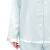 Light Sky Blue Plus Size Silk Pyjamas