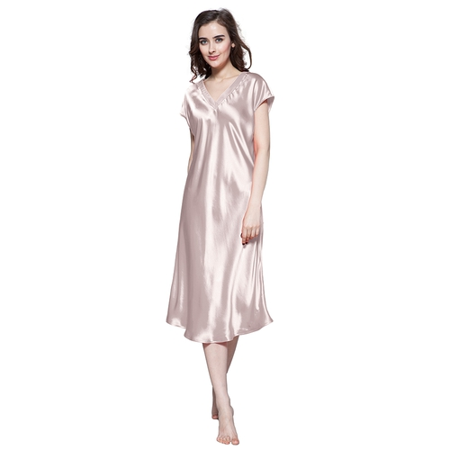 22 Momme Relaxed Fit Long Silk Nightgown