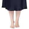Navy Blue Plus Size Silk Nightgown