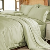 Soft Green Silk Doona Covers