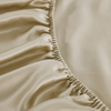 Bright Coffee Silk Fitted Sheet