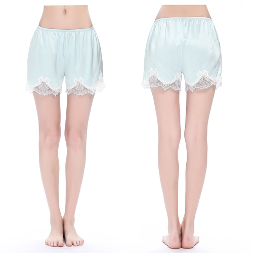 Light Sky Blue Silk Short