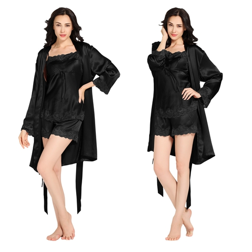 Black Silk Dressing Gown