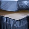 Ocean Blue Silk Bedskirt