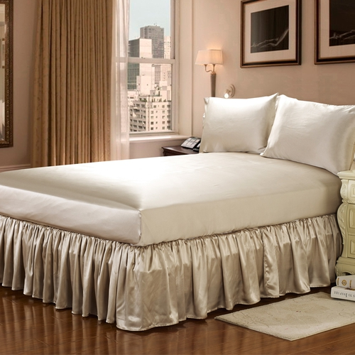 22 Momme Silk Bed Skirt