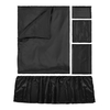 Black Silk Crib Bedding Set