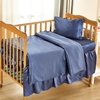 Ocean Blue Silk Crib Bedding