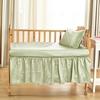 Soft Green Silk Crib Bed Linen Set