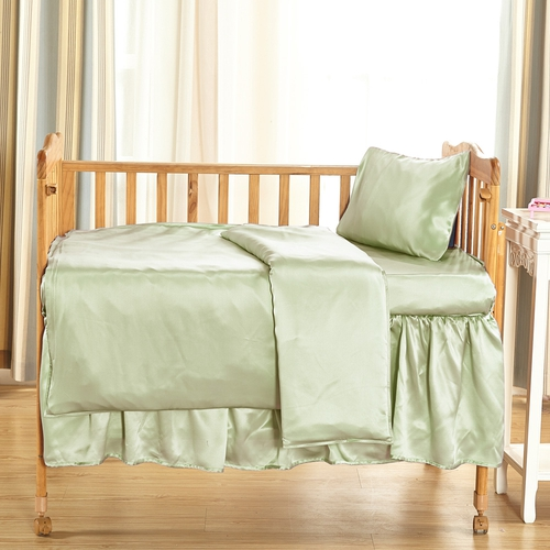 22 Momme Silk Crib Bed Linen Set