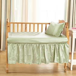 Silk Cot Bed Valance