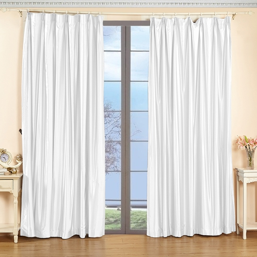 White Silk Curtain