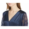 Navy Blue Women Silk Robe