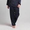 Navy Blue Men Silk Pajamas