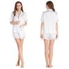White Women Silk Pajama