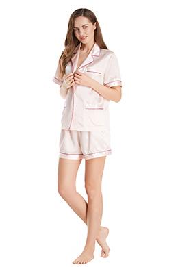 レディース 夏用シルクパジャマ