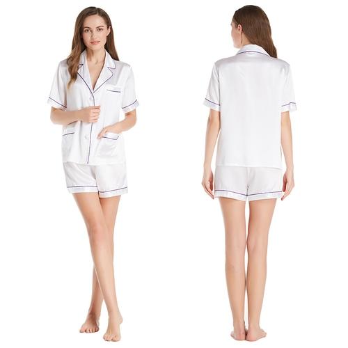 22 Momme Summer Women Silk Pajamas Set