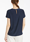 Navy Blue Silk Blouses