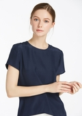 Navy Blue Silk Shirts