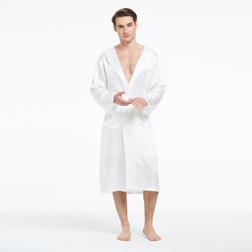 22mm Luxurious Sexy Men Silk Dressing Gowns
