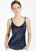 Navy Blue silk camisole