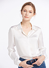 Bianco Camicie e Camiciette in Seta
