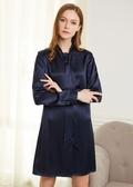 Navy Blue  Silk Dresses