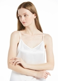 White Silk Camisoles