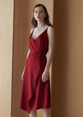 Claret  Silk Dresses