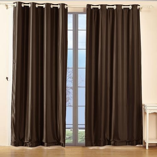 Chocolate Silk Curtain