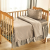 Coffee Silk Crib Bedding Set