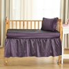 Purple Silk Cot Sheet