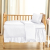 White Silk Crib Bedding