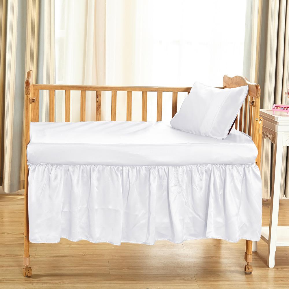 25 Momme Silk Crib Bedskirt