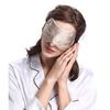 Taupe Zijden Slaapmasker