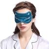 König Blau Seide Schlafmaske