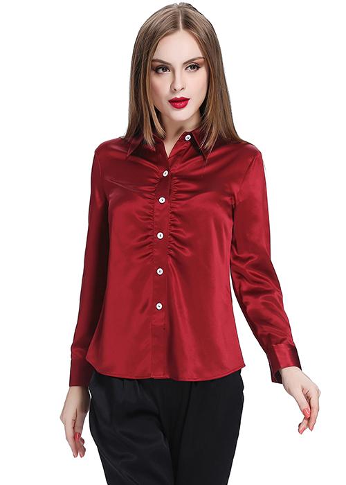 Claret Silk Shirt