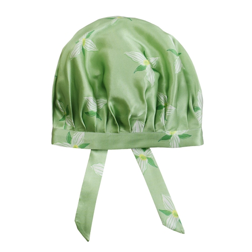 Pretty Flower Silk Sleeping Cap