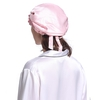 Light Plum & White  Silk Sleep Cap