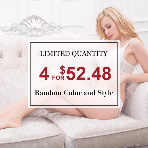 Elegant Mix Style Silk Panties 4 Pack