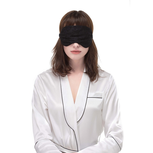 Elegant Silk and Lace Sleeping Eye Mask
