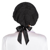 Black Silk Sleeping Cap