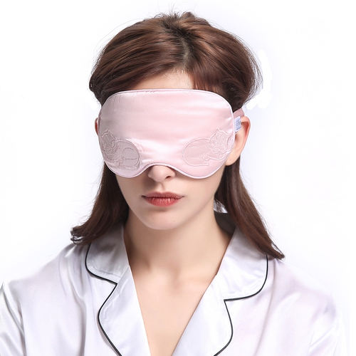 Light Plum Silk Sleep Eye Mask