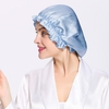 Light Blue Silk Sleep Cap