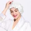 Bianco Cappello da notte di seta