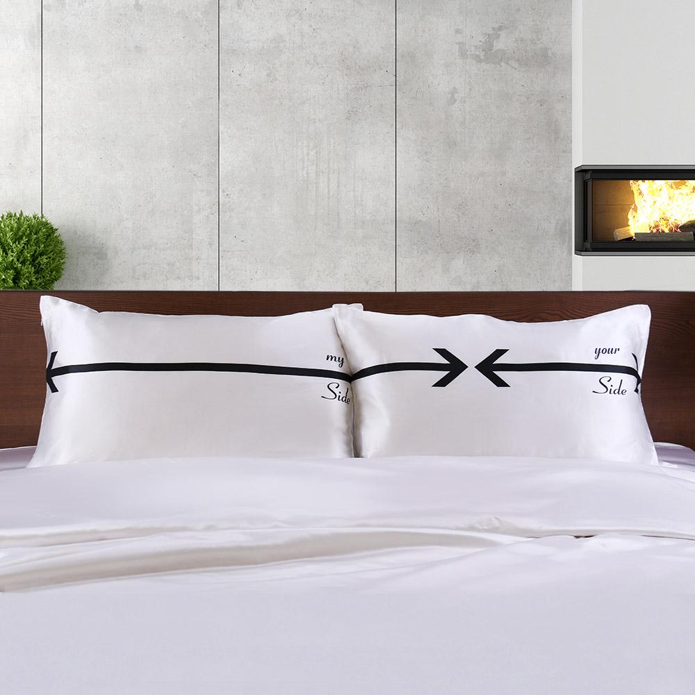 gedruckte seide kissenbez ge f r paar zum verkauf. Black Bedroom Furniture Sets. Home Design Ideas